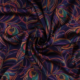 Liberty silk satin fabric - Isodora Feather C x 10cm