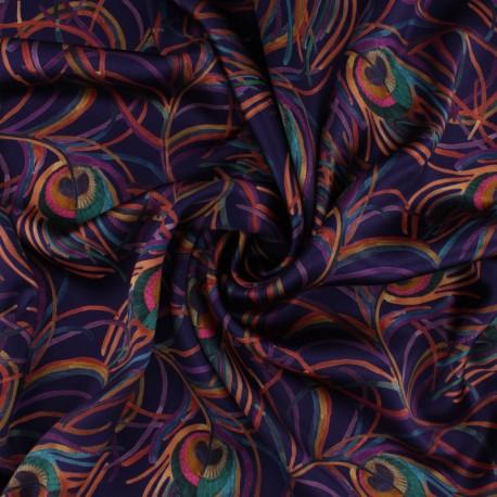 Liberty silk satin fabric - Isodora Feather C x 10cm