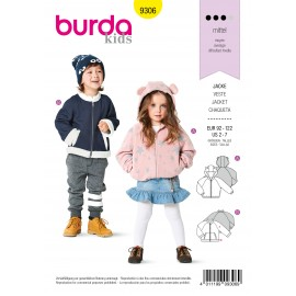 Jacket Sewing Pattern for Children - Burda Kids n°9306