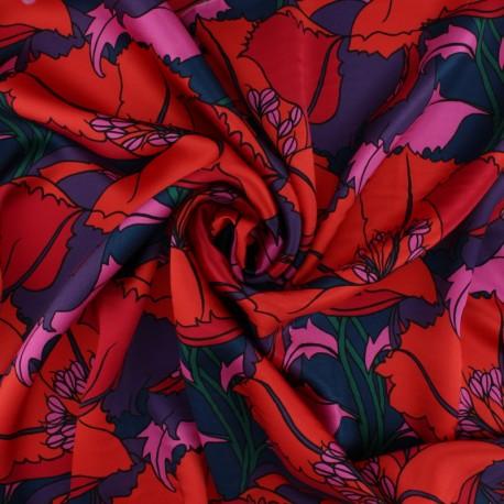 Tissu Soie Liberty - Isodora Feather A x 10cm