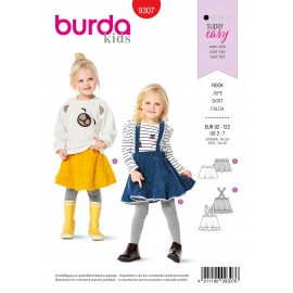 Skirt Sewing Pattern for Children - Burda Kids n°9307