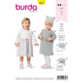 Dress Sewing Pattern for Children - Burda Kids n°9313