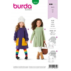 Dress Sewing Pattern for Children - Burda Kids n°9310