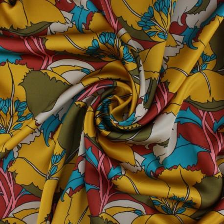 Liberty silk satin fabric - Eustacia A x 10cm