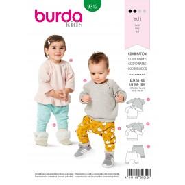 Patron Coordonné Bébé Burda n°9312