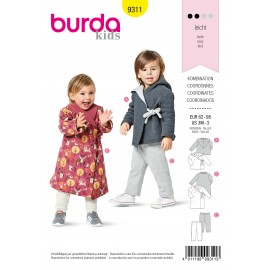 Dressing Gown Sewing Pattern for Children - Burda Kids n°9311