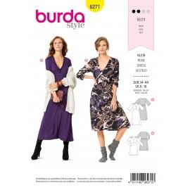 Patron Robe Col V Burda n°6271