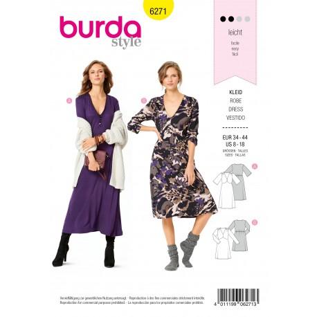 Dress Sewing Pattern - Burda Style n°6271