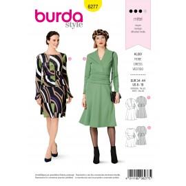 Patron Robe à Jupe Cloche Burda n°6277