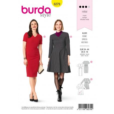 Patron Robe V neck Burda n°6279