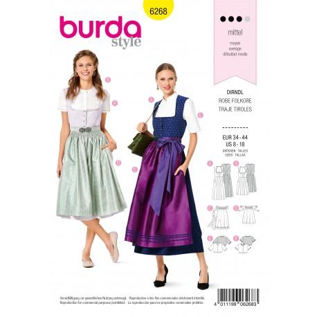 Patron Robe Tyrolienne Burda n°6268