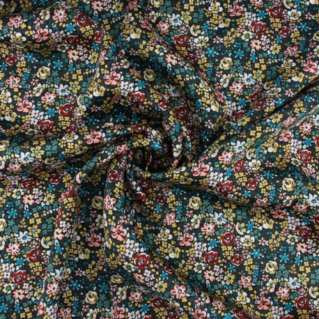 Liberty silk satin fabric - Emma Louise A x 10cm