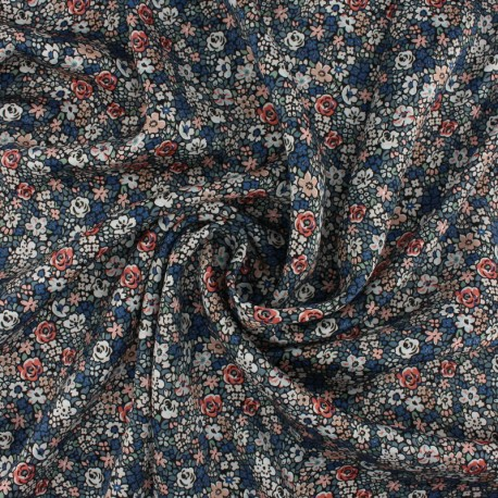 Liberty silk satin fabric - Emma Louise B x 10cm