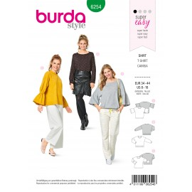 Shirt Sewing Pattern - Burda Style n°6254