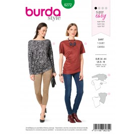 Patron T-shirt Asymétrique Burda n°6272