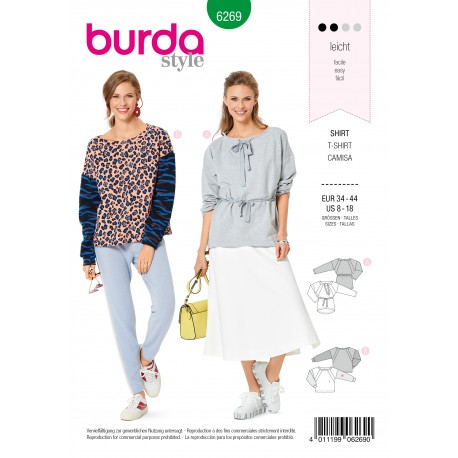Patron T-shirt Burda n°6269