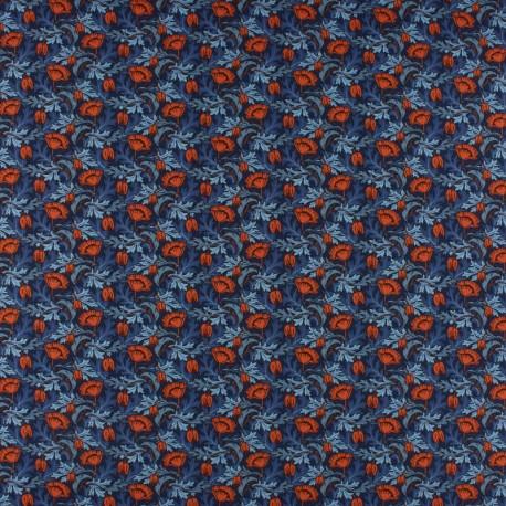 Liberty poplin fabric - Plume Poppy B x 10cm