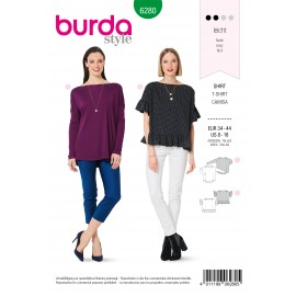 Patron T-shirt Col Bateau Burda n°6280