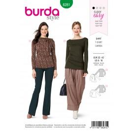 Patron T-shirt Manches Longues Burda n°6281