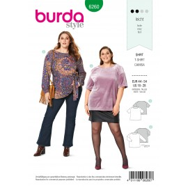 Patron T-shirt et Tunique Burda n°6260