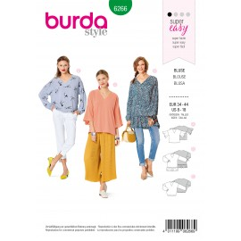 Blouse Sewing Pattern - Burda Style n°6266