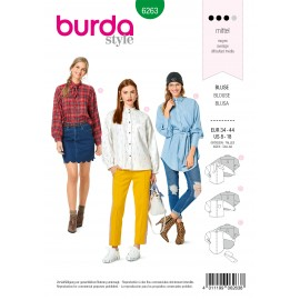 Blouse Sewing Pattern - Burda Style n°6263