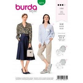 Blouse Sewing Pattern - Burda Style n°6274