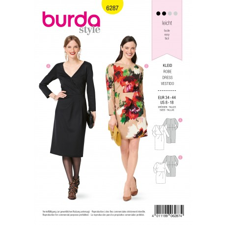 Patron Robe Fluide Burda n°6287