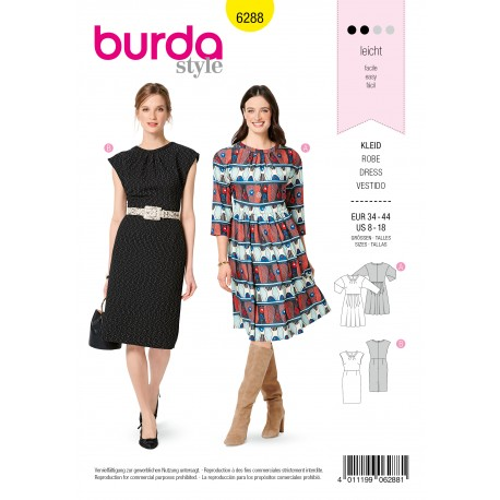 Dress Sewing Pattern - Burda Style n°6288