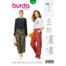 Patron Pantalon Ample Burda n°6250