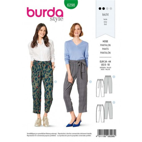 Pants Sewing Pattern - Burda n°6268