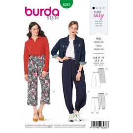 Patron Pantalon Bouffant Burda n°6283