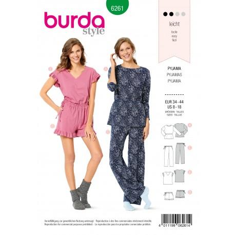 Patron Pyjama Burda n°6261