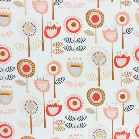 Cotton Dashwood fabric - Flouring - raw flower x 10cm