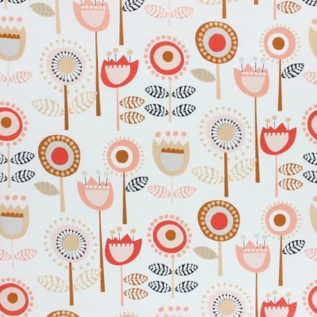 Tissu coton Dashwood Flouring - flower - écru x 10cm