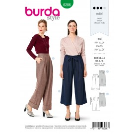 Patron Pantalon Ample Burda n°6286