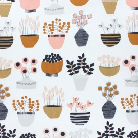 Tissu coton Dashwood Flouring - Plants - écru x 10cm