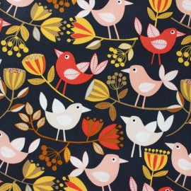 Cotton Dashwood fabric - Flouring - grey Bird x 10cm