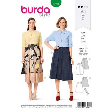 Patron Jupe Evasée Burda n°6291