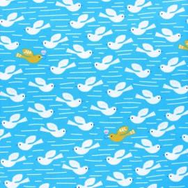 Tissu coton Dashwood Lost treasures - Dove bleu x 10cm