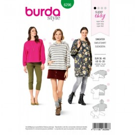 Sweatshirt Sewing Pattern - Burda n°6296