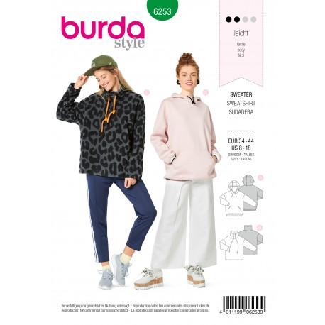 Sweatshirt Sewing Pattern - Burda n°6253