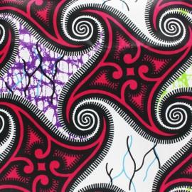 Tissu Wax Mudumu - rose x 10cm