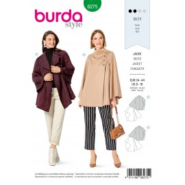 Jacket Sewing Pattern - Burda n°6275