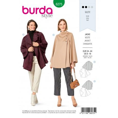 Patron Veste Femme Burda n°6275