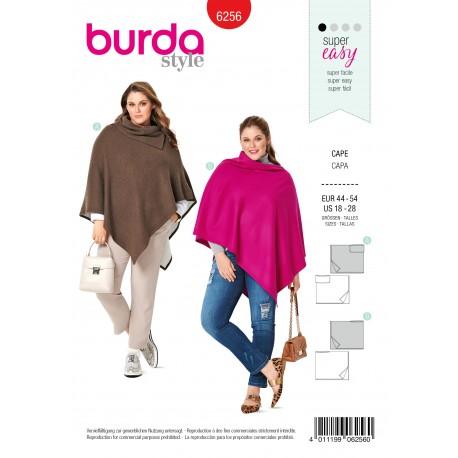 Cloak Jacket Sewing Pattern - Burda n°6256