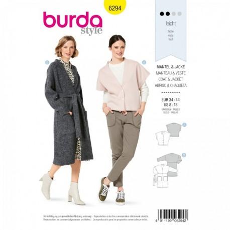 Jacket Sewing Pattern - Burda n°6294