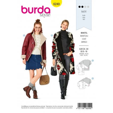 Jacket Sewing Pattern - Burda n°6249