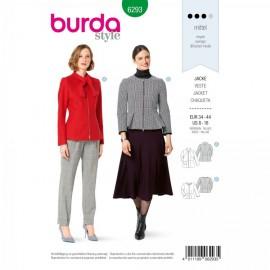 Patron Veste à Basque Femme Burda n°6293
