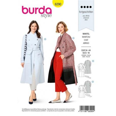 Patron Manteau Cintré Femme Burda n°6290